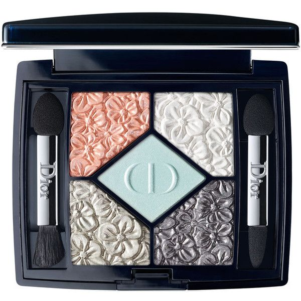 Dior Beauty Limited Edition 5 Couleurs Eyeshadow Palette - Glowing... found on Polyvore featuring beauty products, makeup, eye makeup, eyeshadow, metallic eyeshadow, rose eyeshadow, sparkle eye shadow, eye shadow brush and coral eyeshadow