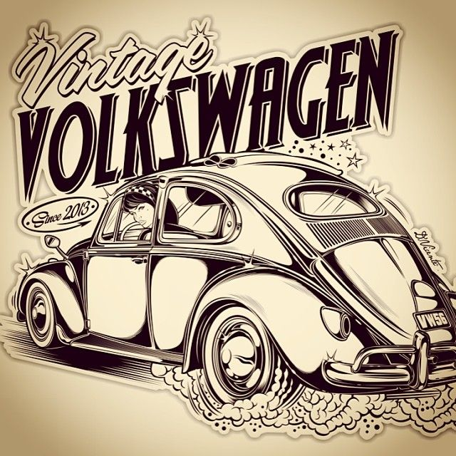 Logo Vintage Volkswagen...