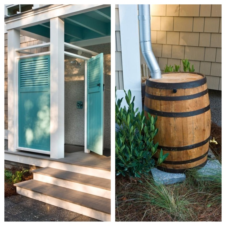 Outdoor Shower Rain Collector For The Home Pinterest