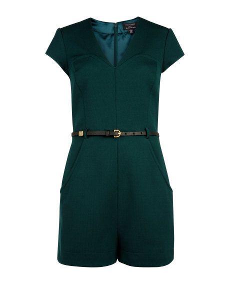 Jersey playsuit - Dark Green | Playsuits & Jumpsuits | Ted Baker DE