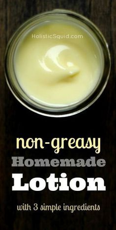 Non-Greasy Homemade Lotion with Essential oils