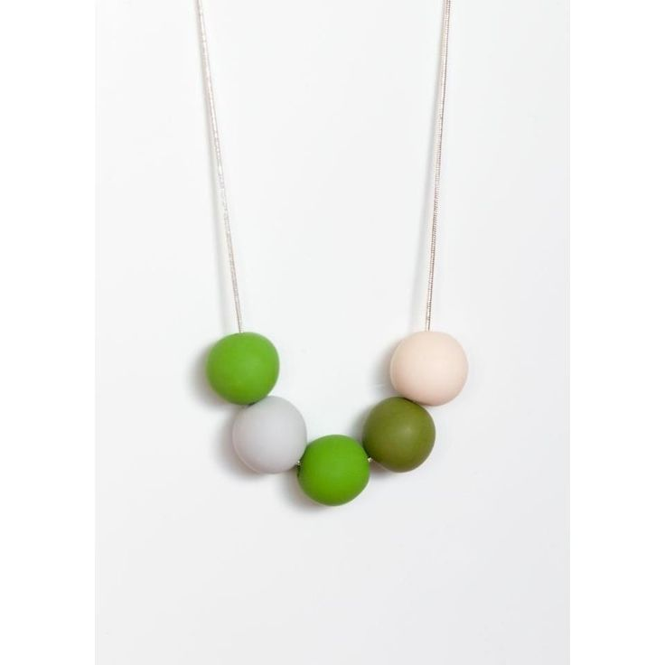 $36 Apple and Olive Bubble Necklace by Ashloc Designs on Handmade Australia www.hand-made.com.au/ashlocdesigns