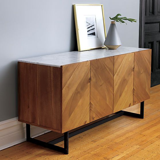 suspend media console in storage furniture | CB2 - possible media cabinet for under the TV