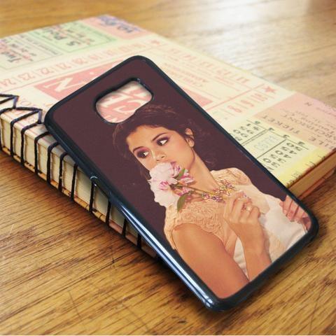 Selena Gomez Flower Singer Samsung Galaxy S7 Edge Case