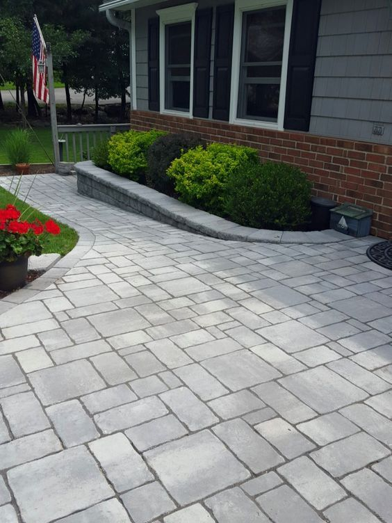 Black River Landscape Management updated this entryway with Cambridge Pavingstones with ArmorTec. Pavingstones will highlight your landscaping this spring.