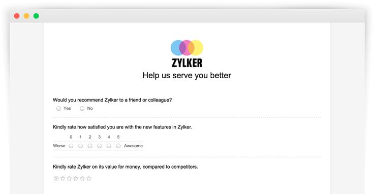 Create online surveys and questionnaires for free : Zoho Survey