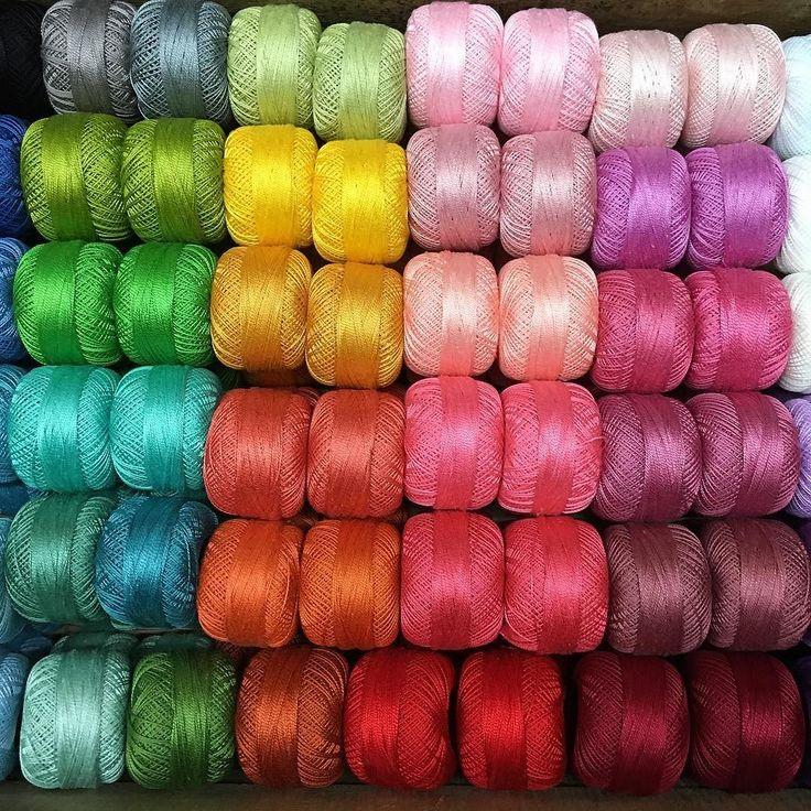 Delicious new delivery of Presencia mercerised Perle 8 & 12. #luccellomelbourne #presencia #embroidery #quilting #tassles #crochet #gloriuscolours