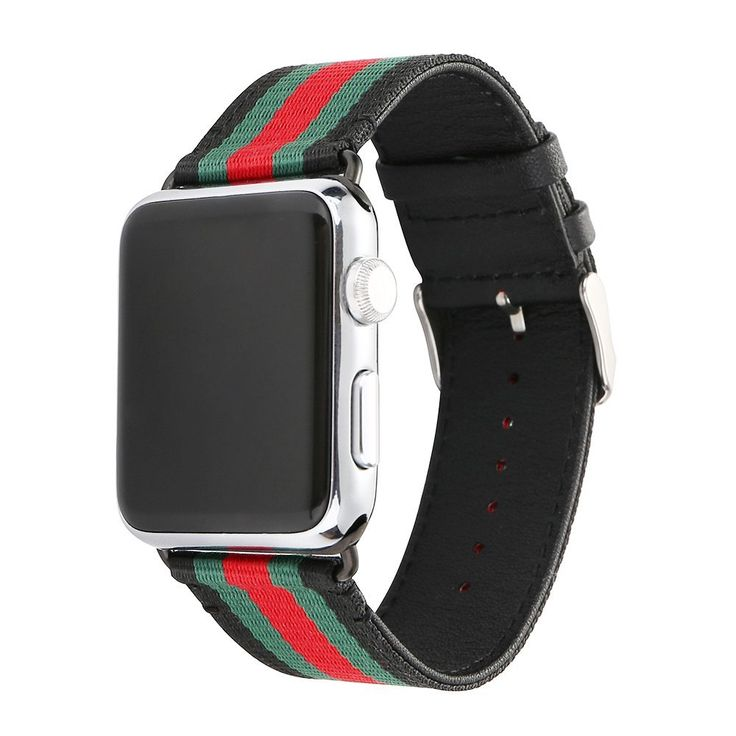 HuanlongTM New casual nylon Leather Watch Band Buckle Watchband For Apple Watch iwatch Series 1 Series 2(Nylon 42mm Black)