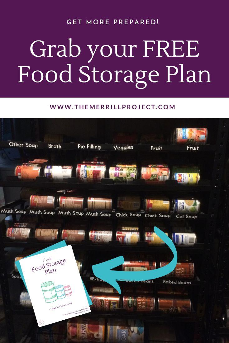 Grab your free food storage plan lds food storage food