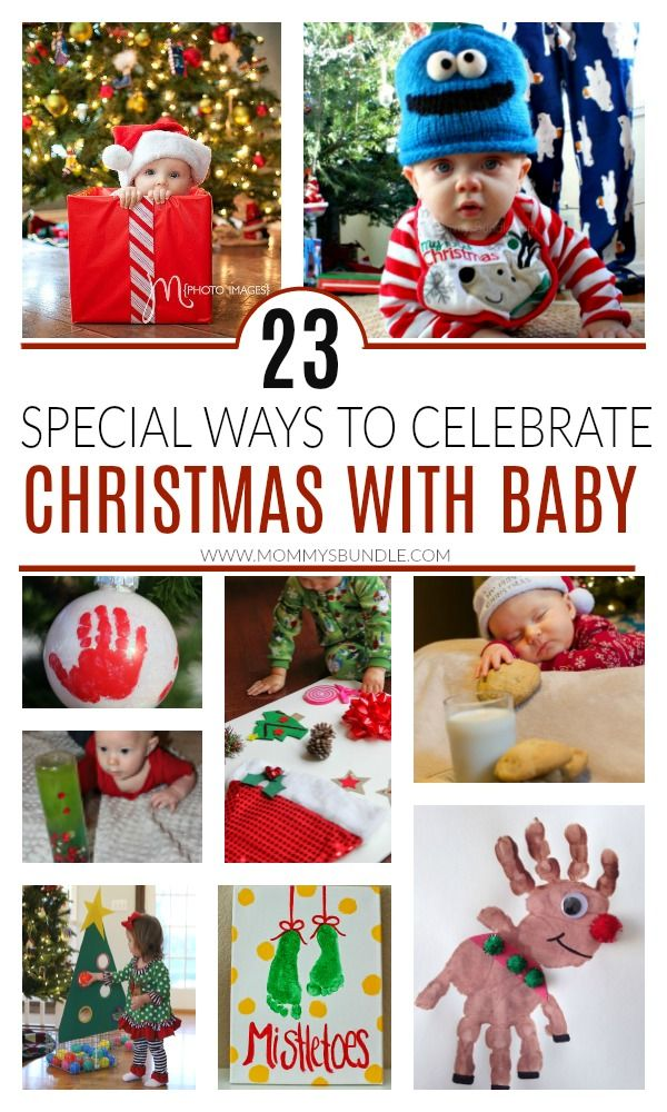 23 Special Ways To Celebrate Baby S First Christmas Baby Christmas Activities Baby Christmas Crafts Baby Christmas Photos
