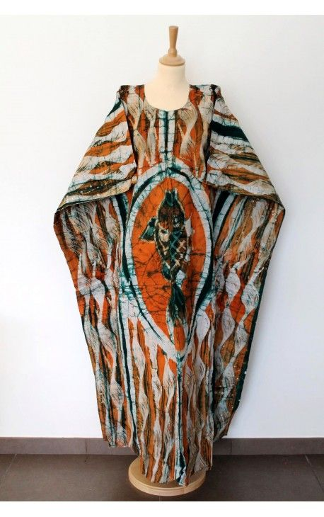 Boubou Africain Femme   Vêtement Grande Taille   Robe Batik   O74