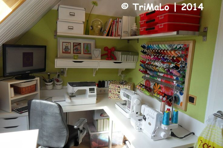 nähecke im wohnzimmer:TriMaLo: Von der Wohnzimmer-Nähecke ins eigene Nähzimmer(chen