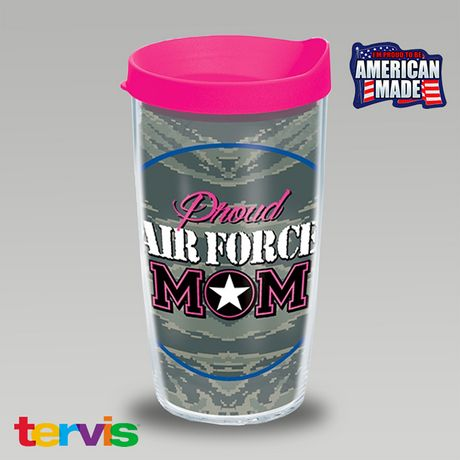 Proud Air Force Mom 16oz Tumbler   ArmedForcesGear.com
