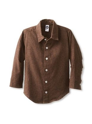 65% OFF American Apparel Kid's Flannel Longsleeve Button-Up Shirt (Bark Flannel)