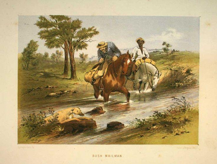 Bush Mailman, by Samuel Thomas Gill,(1818 - 1880), courtesy of Ballarat Fine Art Gallery.