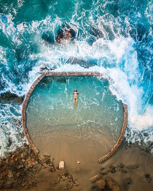 Laguna Beach natural pool from above by Niaz Uddin @neohumanity