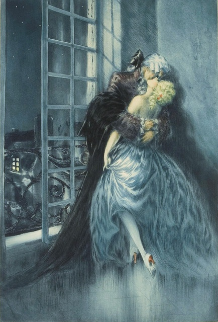 "Louis Icart, ""Lovers""                                                                                                                                                                                 More"