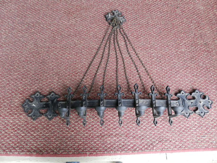 Large Vintage GOTHIC Sexton Medieval Wall Candle Holder