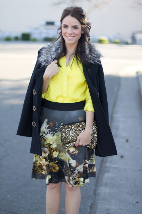 Neon Yellow & Floral - Gal Meets Glam