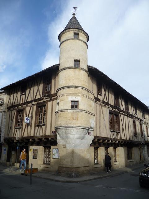 A Beautiful Vernacular. In Sainte-Foy-La-Grande, Aquitaine, France.