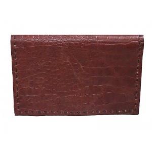Gran billetera con textura en puro cuero