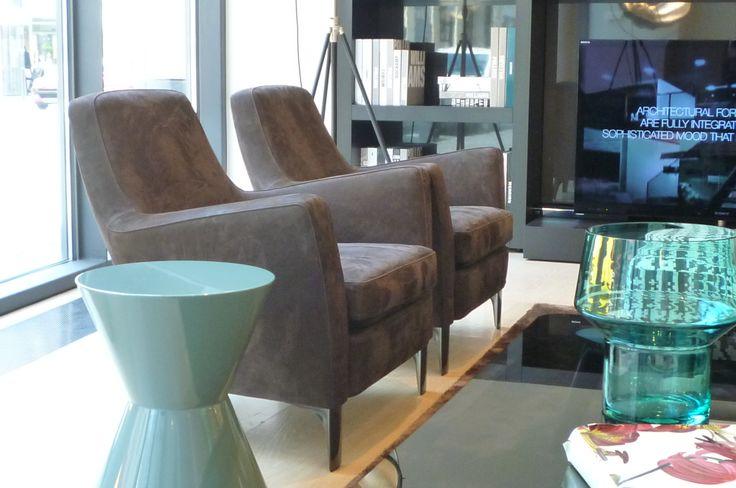 Sessel Denny Lounge, Beistelltisch Cesar