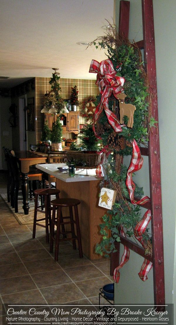 Creative Country Mom's Garden: Country Christmas Ladder