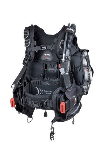 Mares Hybrid Pro Tec Scuba Diving BCD (Medium-Large, Black) * You can find more details by visiting the image link.