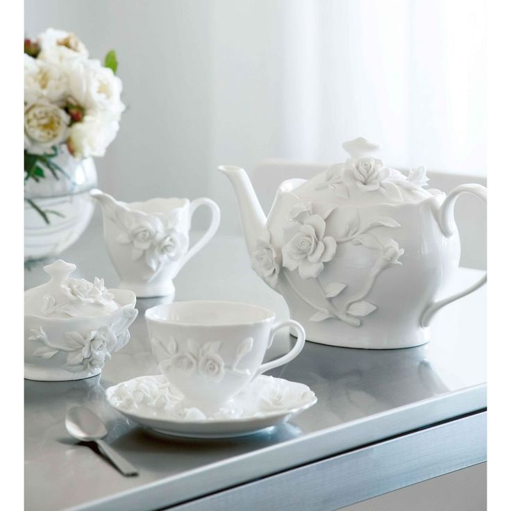 Homewares :: Kitchen :: Dinnerware :: Rambling Rose Teapot - | Domayne Online Store - Furniture, Bedding, Homewares and Electronics