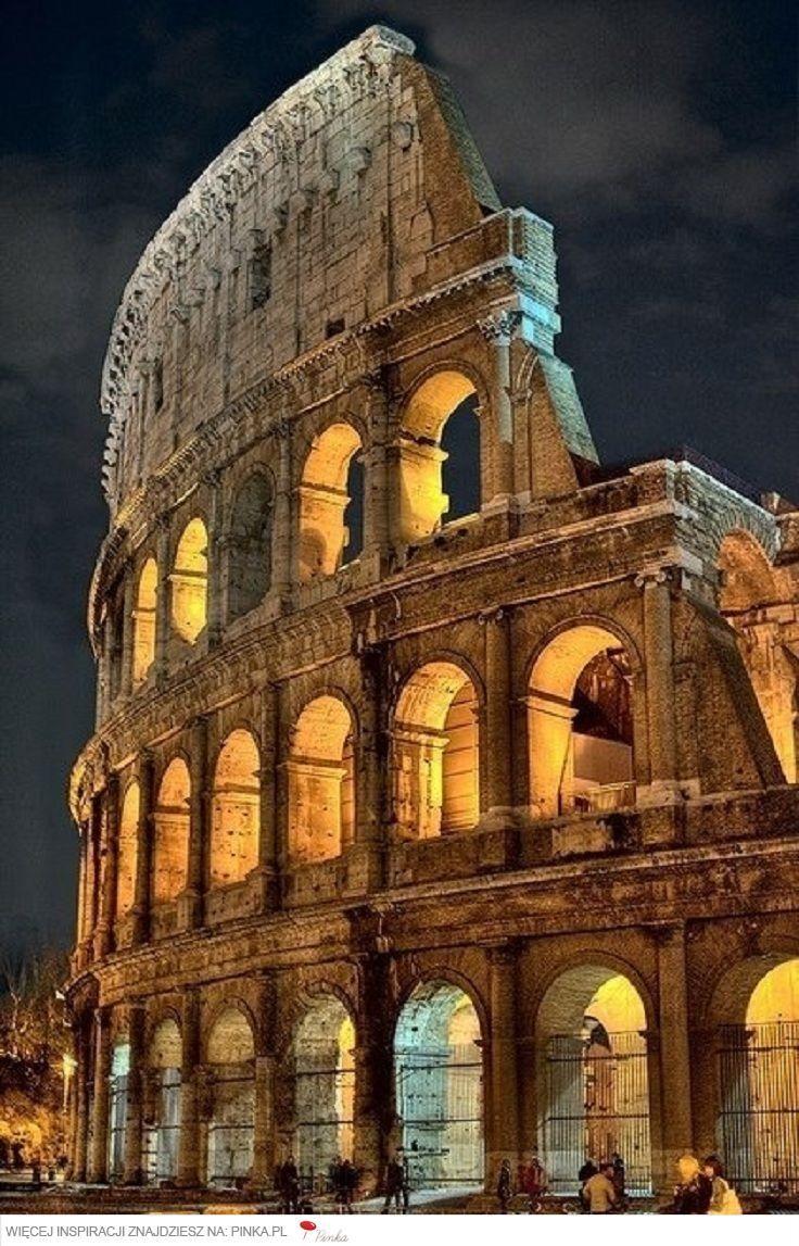 Koloseum W Rzymie Włochy Coliseo Romano Coliseo Romano