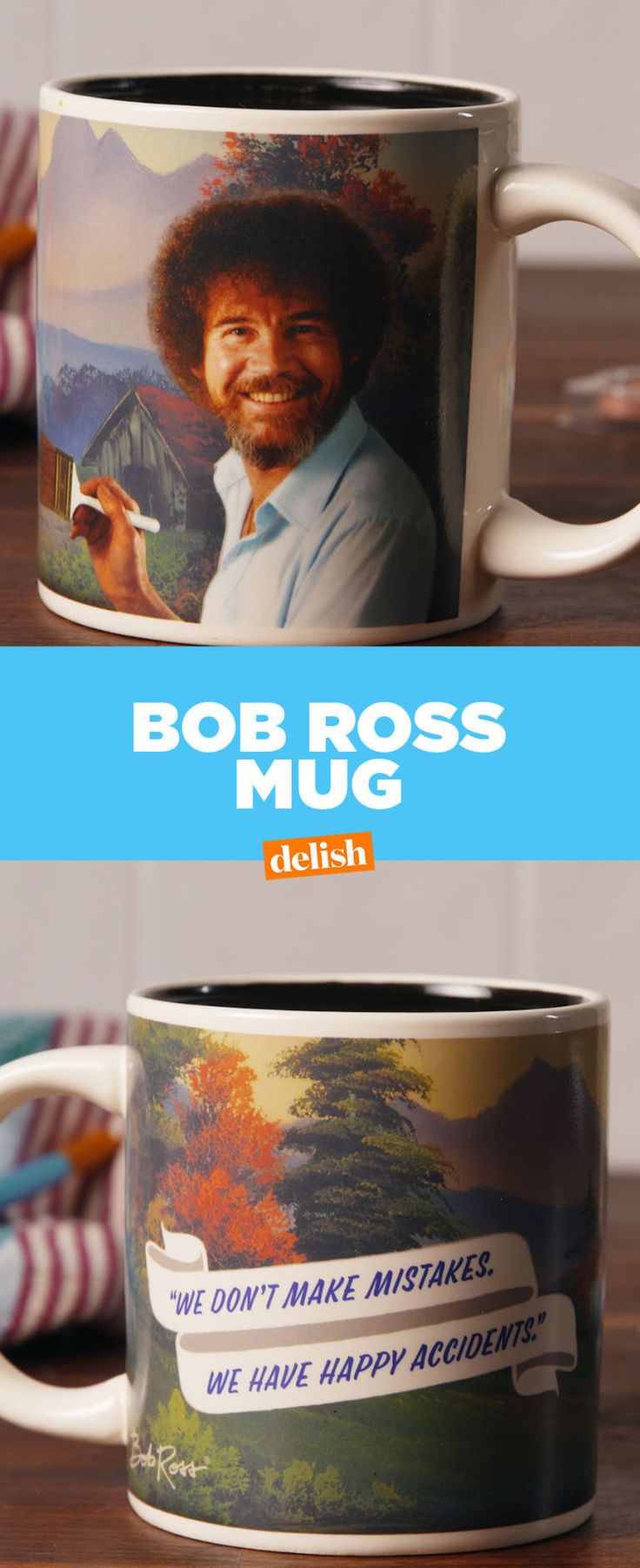 You've Got To See How This Bob Ross Mug Transforms When You Pour Coffee In It