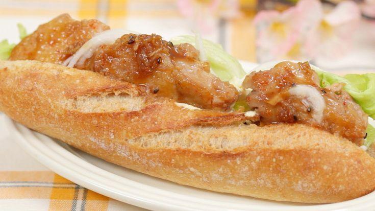 Teriyaki Chicken Sandwich Recipe 照り焼きチキンサンド 作り方 レシピ