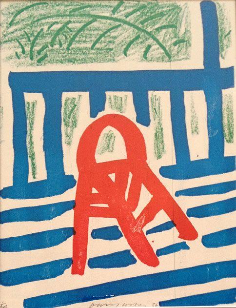Hockney chair homemade print