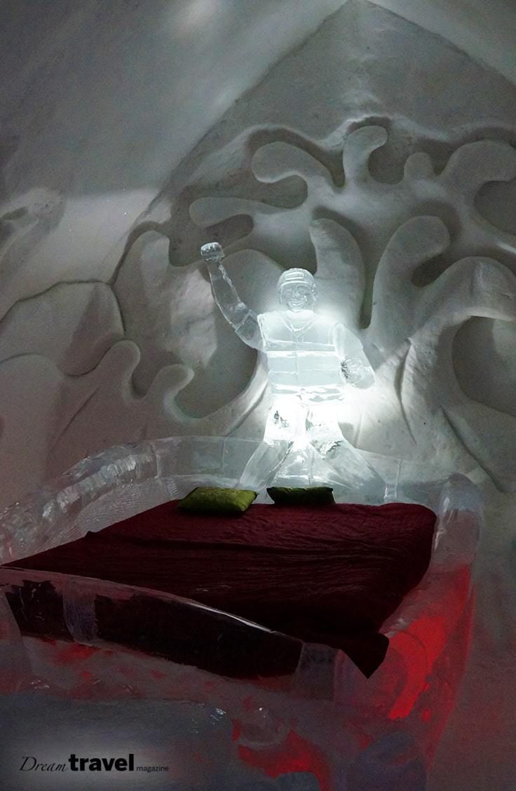Quebec City's Ice Hotel is constructed solely from ice and snow each year. From January through March you can take a day tour of the hotel or bravely sleep in one of the ice hotel's themed rooms and suites. Take a look inside the Quebec City Hotel de Glace.