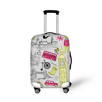 Fashion Luggage Cover London Girl - FREE SHIPPING!