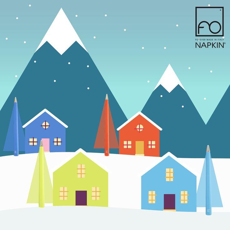 Noi ci godiamo questi ultimi giorni dell'anno nel villaggio #Primina. E voi? ❄ ► http://www.napkinforever.com/it/collezioni/primina #NAPKINFOREVER #MadeinItaly