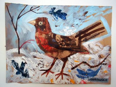 Brambling, collage, by Mark Hearld