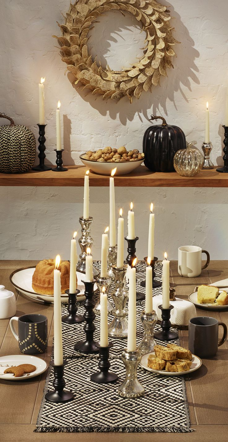 Amp up black and white with accents of silver to make dessert really shine.