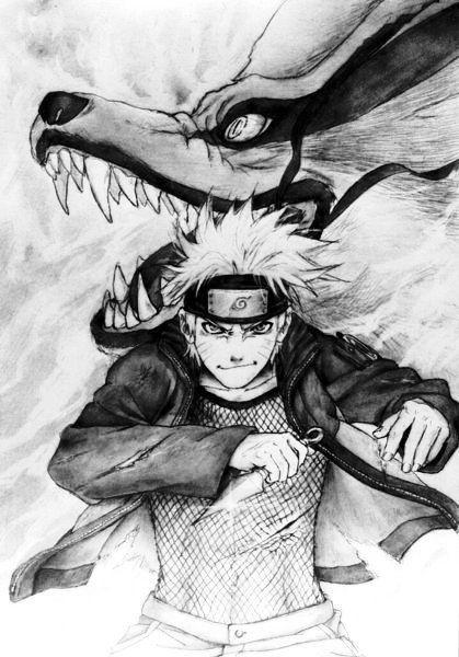 Naruto and Kurama. Great pic