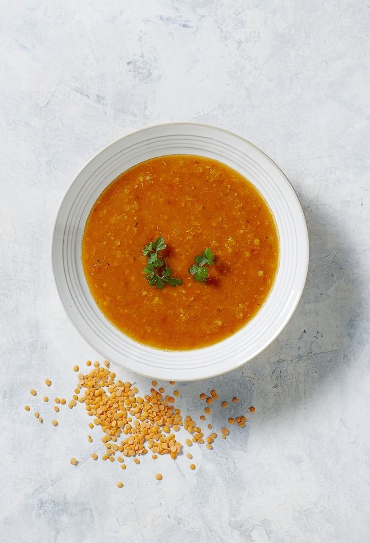 Pumpkin, Tomato & Red Lentil Soup