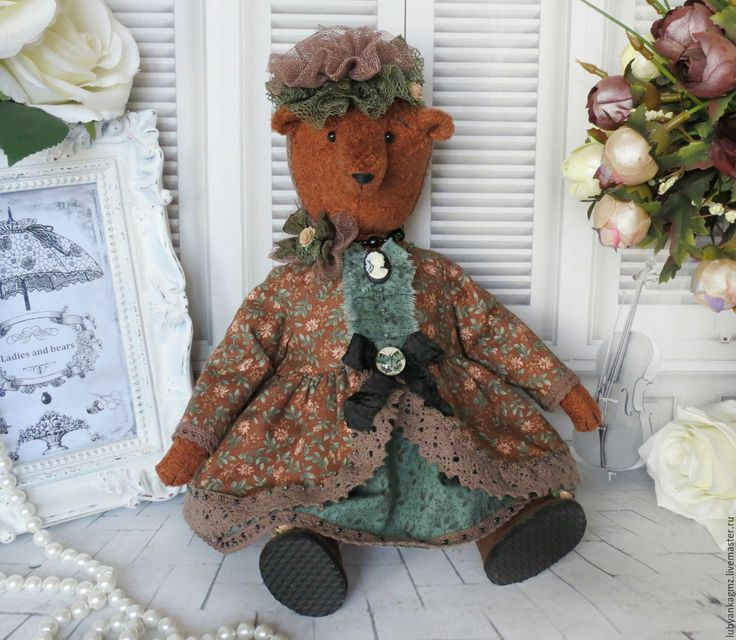 Купить Мишка Тома деревенская дамочка. Интерьерная игрушка. Деревенский стиль