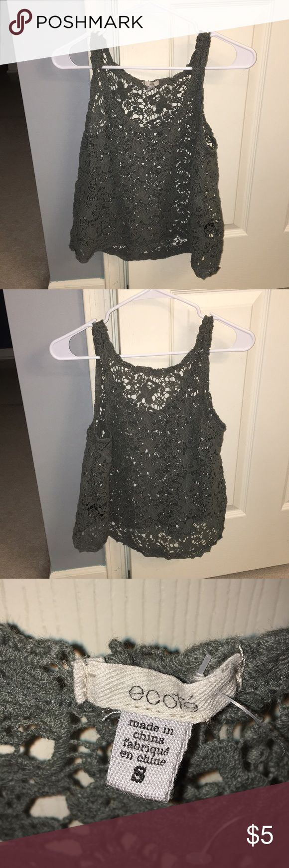 See through tank Perfect condition see though tank top! Ecote Tops Tank Tops