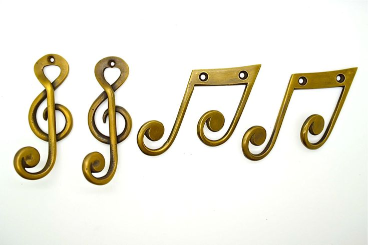 brass wall hooks. x 4. Musician gift idea. Bathroom towel hook. Clothes coat hooks. Childrens coat hook.cabinet hardware. guitar gifts by Thefoundryman on Etsy https://www.etsy.com/listing/255676255/brass-wall-hooks-x-4-musician-gift-idea