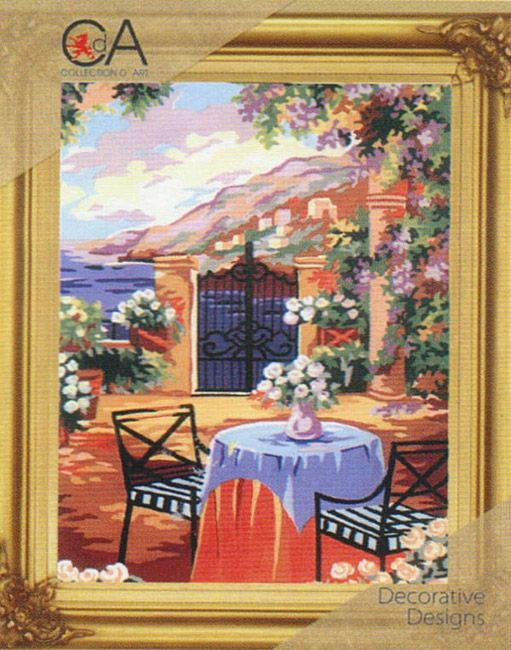 Collection d'Art:K6.193 -   Tapestry Kit 30cm X 40cm. Colour printed canvas, soft embroidery cotton, needle and instructions included.        This design is also available as a canvas only - Click Here