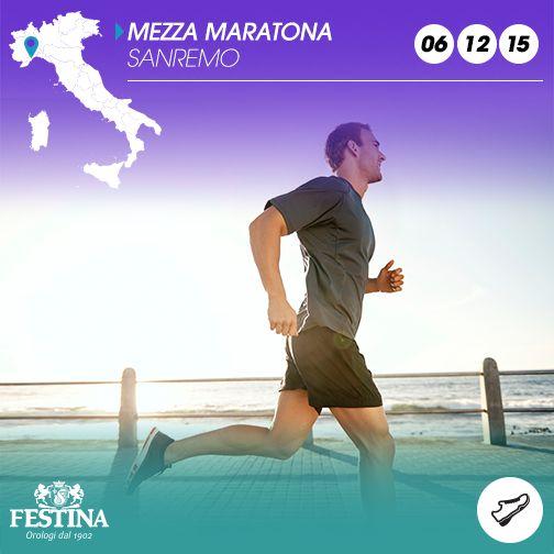 Siete pronti per la mezza maratona di Sanremo? Buona domenica sportiva, vista mare!