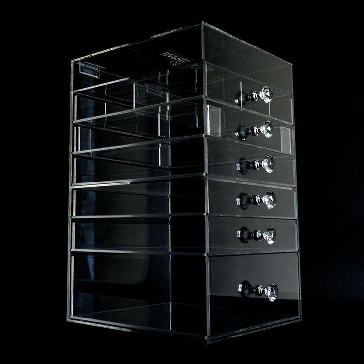 Diamond Collection 7-Tier Acrylic Organizer with Flip Open Top