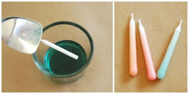 diy ombre candles  Home Ideas: Dips Candles, Gradient Candles, Diy'S Gradient, Candles Theproperpinwheel Com, Birthday Candles, Diy'S Ombre, Diy'S Candles, Dips Birthday, Candles Diy'S