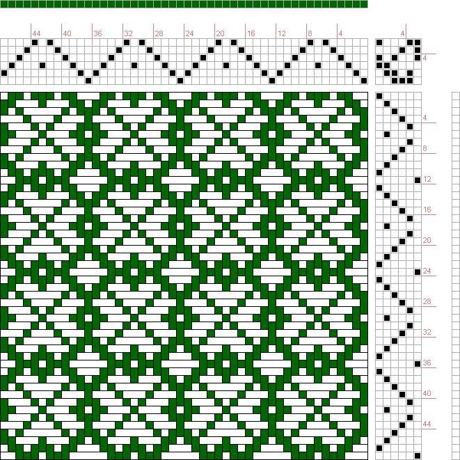 проект изображения: стр. 122, Рис. 36, Донат, Большая книга текстильные узоры Франц, 6с, 6т