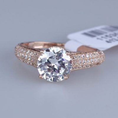 anel solitario de noivado brilhantes