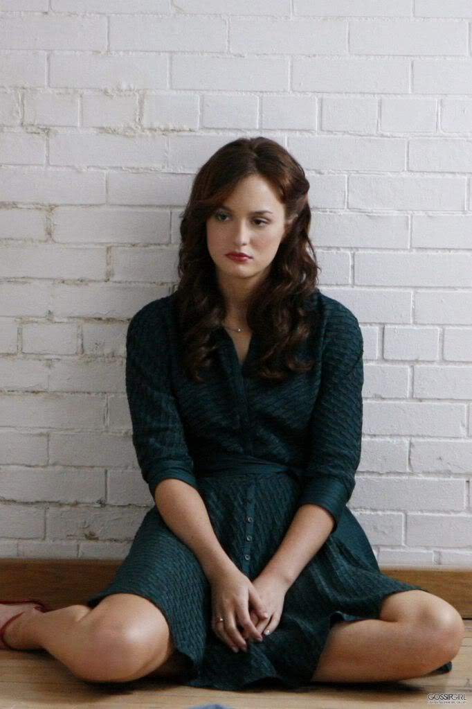 Blair waldorf; green dress
